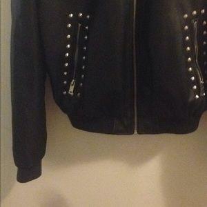 Zara Jackets & Coats - Faux leather boomer jacket